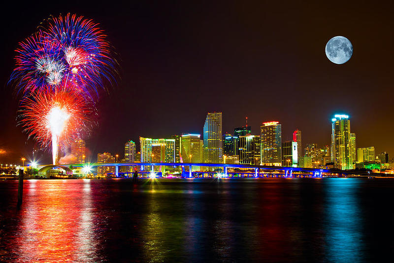 New Year's Eve on a Miami charter boat