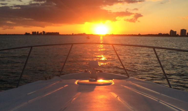 Renting a boat in Miami