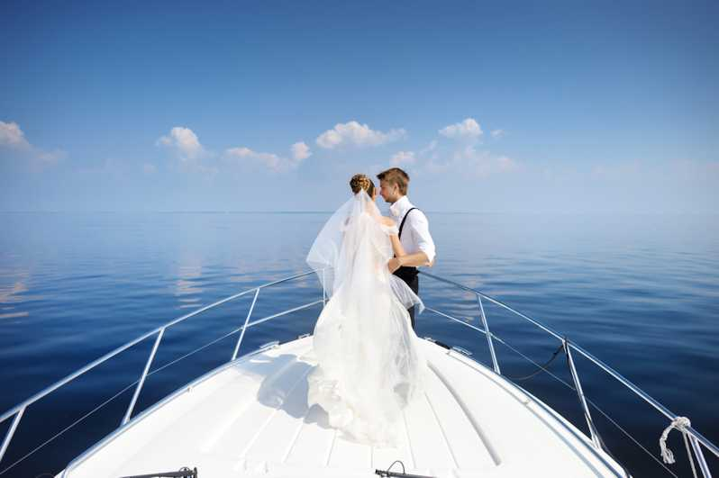wedding on a Miami charter boat